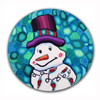 Kyle the Snowman Polymer Clay Magnet or Pin