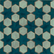 Stars and Hexagons Handmade Ceramic Tile_THUMBNAIL