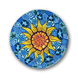 Sunflower Clay Magnet or Pin