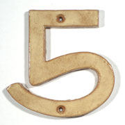 Tan Art & Crafts Cut Out House Numbers SWATCH