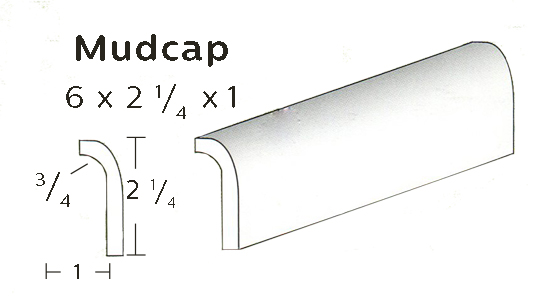 "Mudcap is 2"" tall x 1"" wide MAIN"