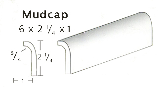 "Mudcap is 2"" tall x 1"" wide SWATCH"