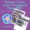 Variegated Flower PDF Tutorial THUMBNAIL