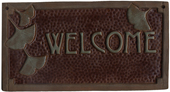 Craftsman welcome sign Gingko, chocolate & green