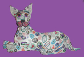 Dog Polymer Clay Wall Sculpture, Layl's Silly Milly Art MAIN