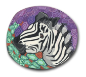 Zebra Polymer Clay Magnet or Pin