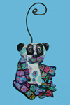 Panda Polymer Clay Ornament THUMBNAIL