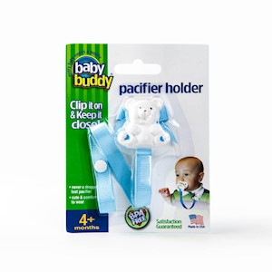 Baby Buddy Bear Pacifier Holder (Solids) THUMBNAIL