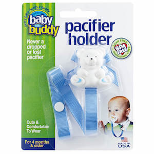 Baby Buddy Bear Pacifier Holder (Solids)
