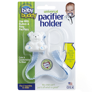 Baby Buddy Universal Pacifier Holder (Stitches)