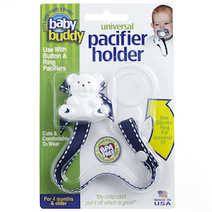 Baby Buddy Universal Pacifier Holder (Stitches) THUMBNAIL