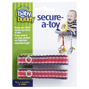 Baby Buddy Secure-A-Toy Fashion 2 Count THUMBNAIL