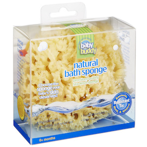 Natural Bath Sponge 4inch Wool Sea Sponge (polybox) MAIN
