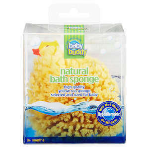 Baby Buddy Natural Bath Sponge Boxed Yellow Sea Sponge