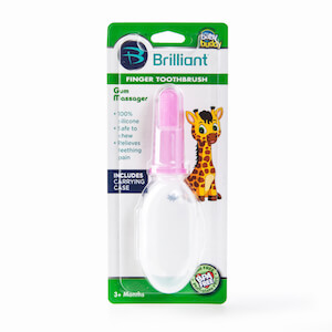 Baby Buddy Silicone Finger Toothbrush with Carrying Case THUMBNAIL