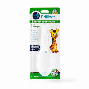 Silicone Finger Toothbrush with Carrying Case MAIN