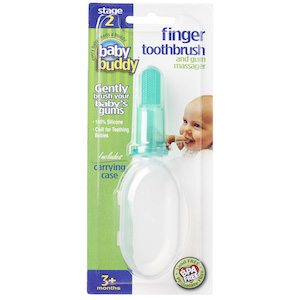 Baby Buddy Silicone Finger Toothbrush with Carrying Case