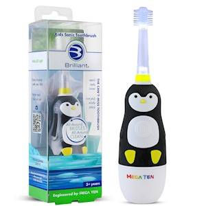 Brilliant Kids Sonic Toothbrush - Penguin THUMBNAIL