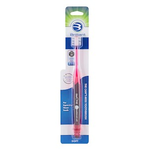 Brilliant Soft Toothbrush with Round Bristle Head for All-Around Clean THUMBNAIL
