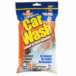 1 Step Car Wash 3ct (pre-soaped cleaning pads) THUMBNAIL