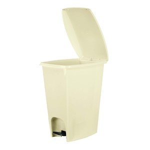 Compac Home Ivory Step Trash Can - 6 Gal THUMBNAIL