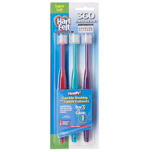 HartFelt 360 Toothbrush Adult Super Soft ACS Buy 3 Give 1