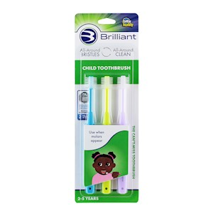 Brilliant Child Toothbrush 3 pack by Baby Buddy THUMBNAIL