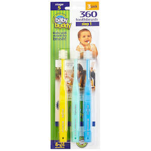 Baby Buddy Brilliant Baby Toothbrush 3-pack