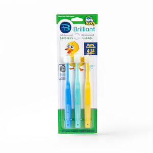 Brilliant Baby Toothbrush 3 pack by Baby Buddy