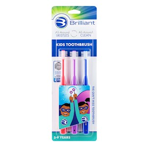 Brilliant Kids Toothbrush 3 pack THUMBNAIL
