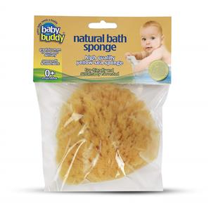 Baby Buddy Natural Bath Sponge 4 inch Yellow Sea Sponge THUMBNAIL