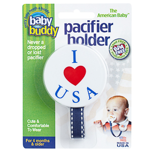 American Baby Pacifier Holder - I Love USA