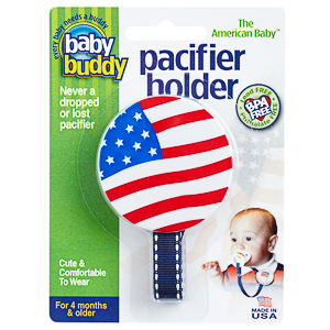 American Baby Pacifier Holder - US Flag