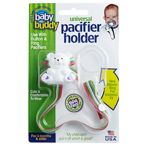 Baby Buddy Universal Pacifier Holder (Prints)