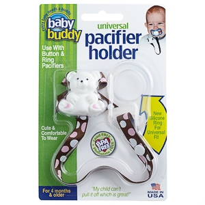 Baby Buddy Pacifier Holder with Dots