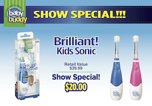 Show Special-Brilliant! Kids Sonic Toothbrush