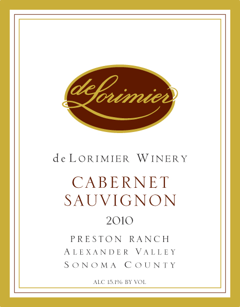 2010 Cabernet Sauvignon, Preston Ranch