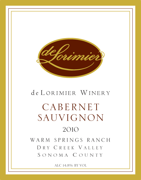 2010 Cabernet Sauvignon, Warm Springs Vineyard
