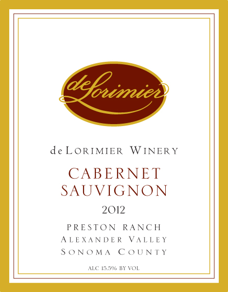 2012 Cabernet Sauvignon, Preston Ranch