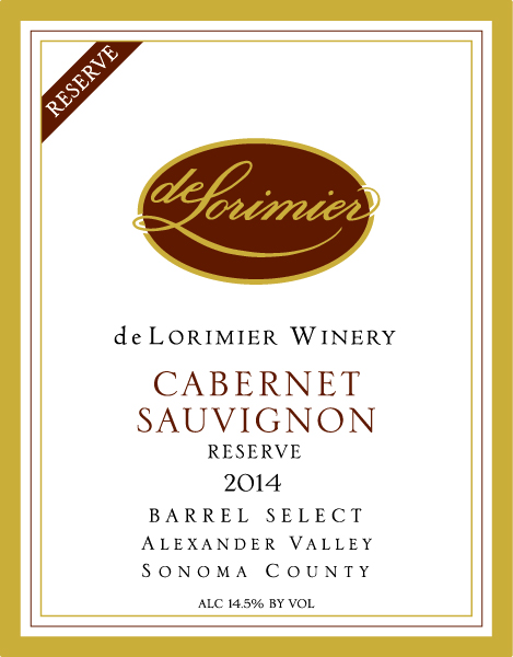 2014 Cabernet Sauvignon, Alexander Valley Barrel Select Reserve