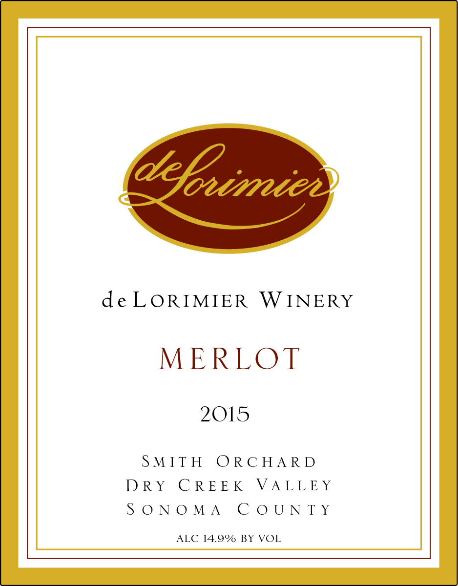 2015 Merlot, Dry Creek Valley