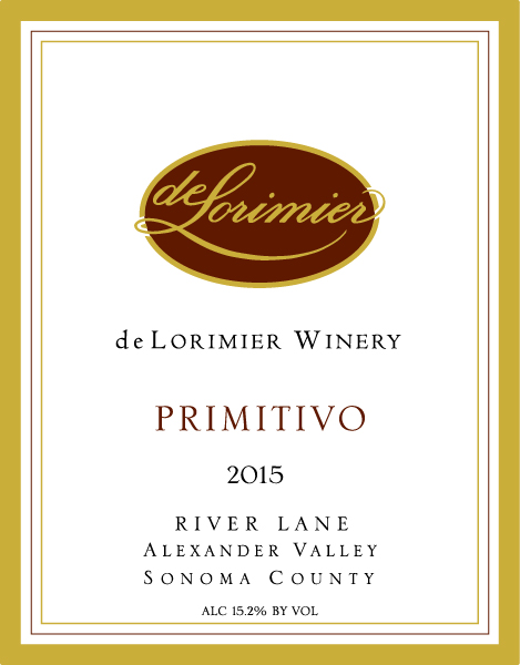 2015 Primitivo, River Lane