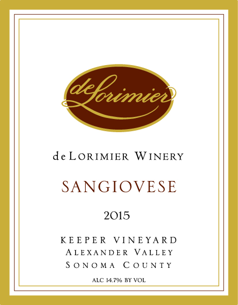 2015 Sangiovese, Keeper Vineyard