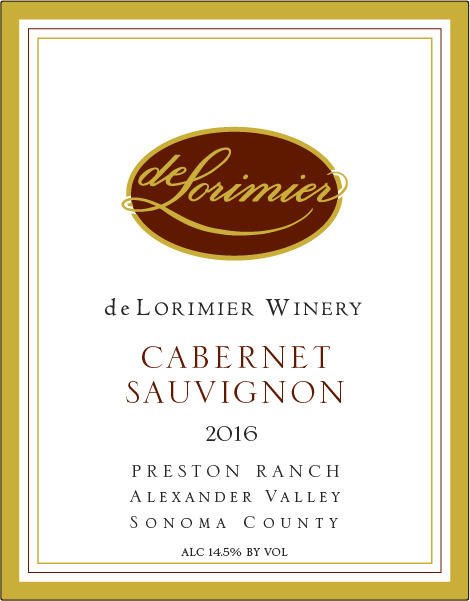 2016 Cabernet Sauvignon, Preston Ranch THUMBNAIL