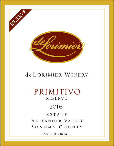 2016 Primitivo, Estate Reserve