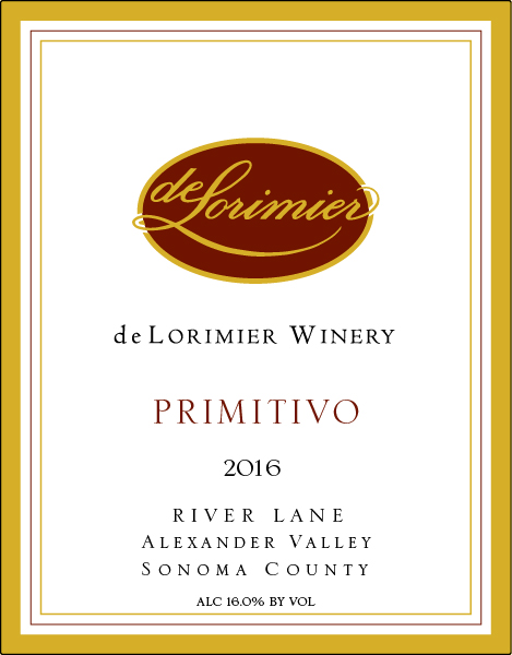 2016 Primitivo, River Lane