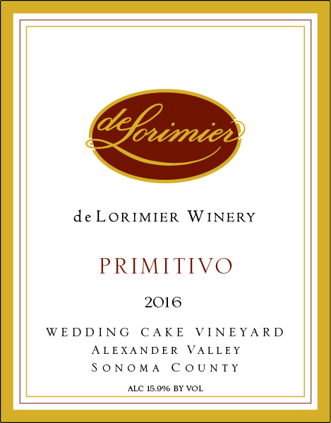 2016 Primitivo, Wedding Cake Vineyard