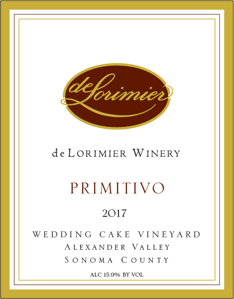 2017 Primitivo, Wedding Cake Vineyard THUMBNAIL
