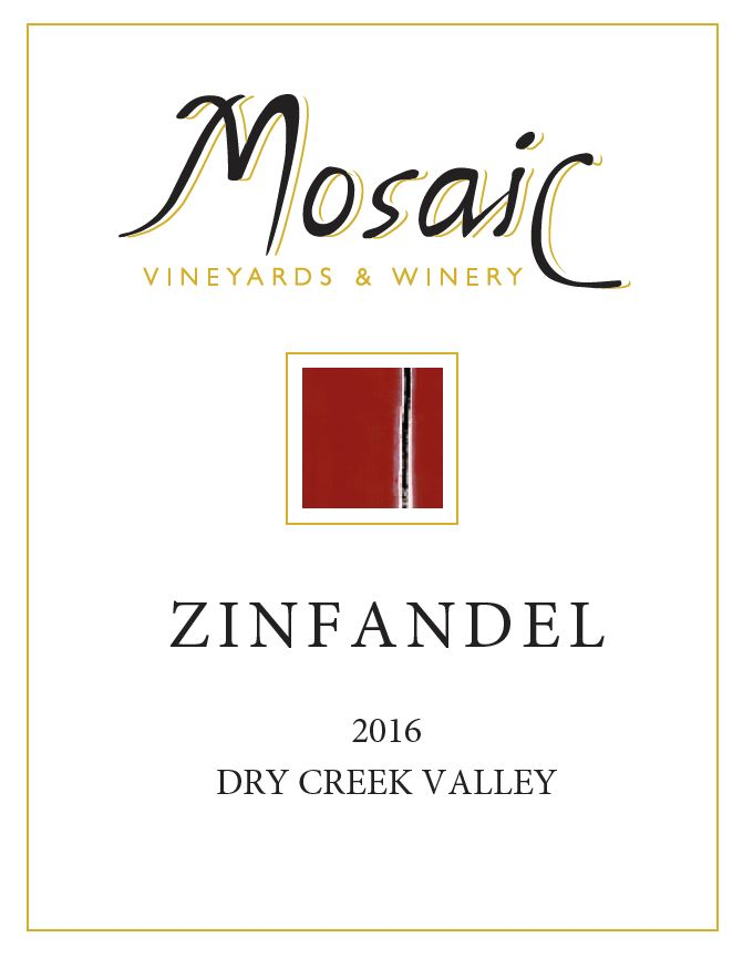 2016 Mosaic Zinfandel, Dry Creek Valley THUMBNAIL