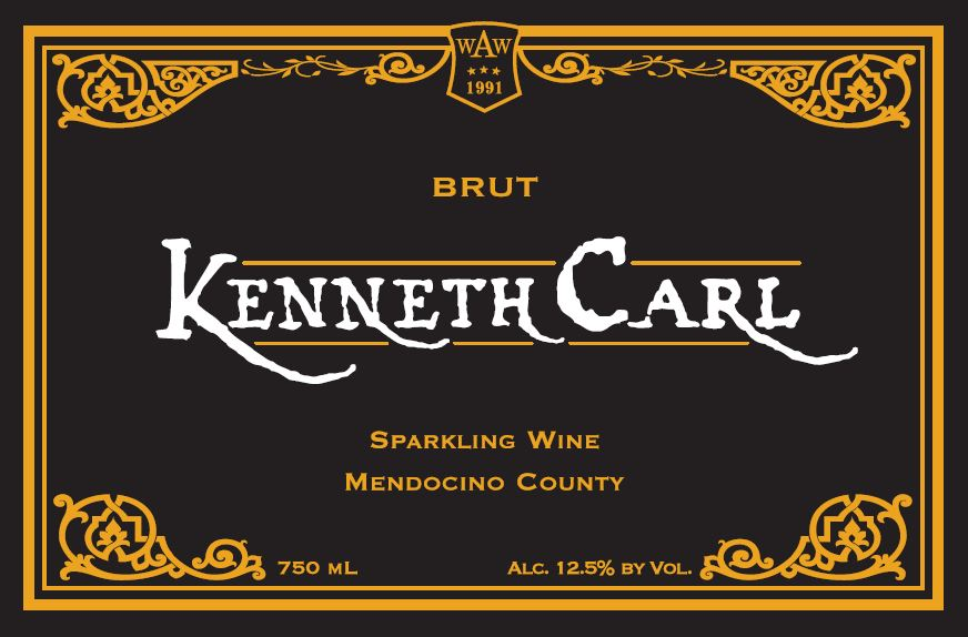 Kenneth Carl Brut, Sparking Wine, Mendocino County MAIN